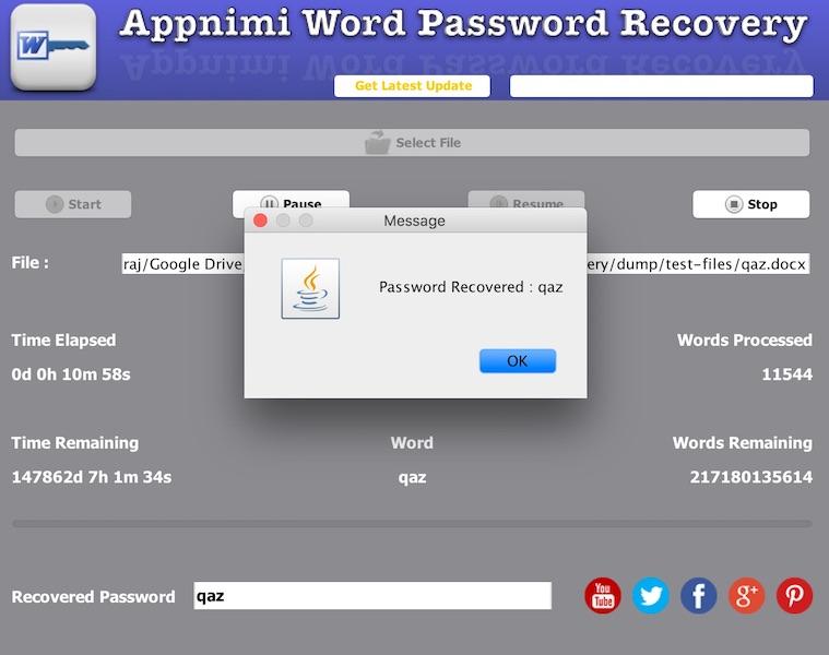 Appnimi Word Password Recovery